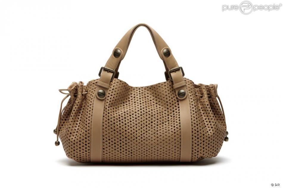 d12933044328c Le non-moins célèbre sac 24h en cuir perforé de chez Gerard Darel ...