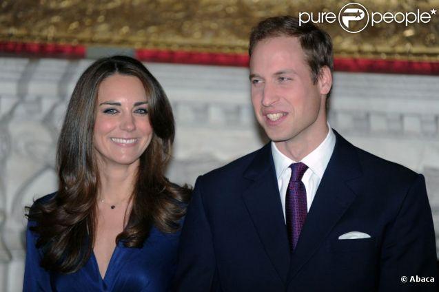 Kate Middleton et le Prince William lors de leur fiançailles