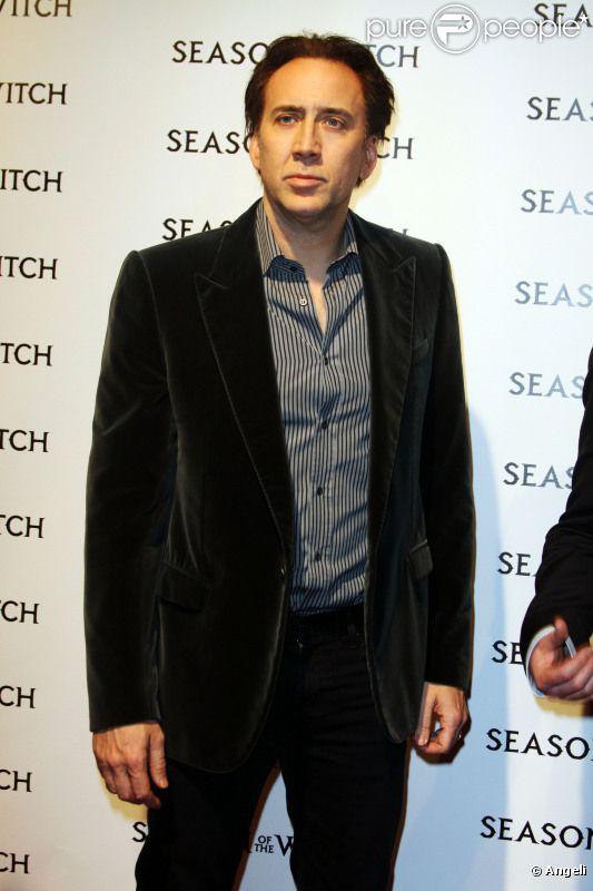 Nicolas Cage, en janvier 2011, pour l'avant-première du film Season of the Witch, à Los Angeles.