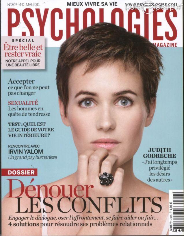 Judith Godrèche en couverture de Psychologies