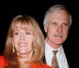 Jane Fonda et son ancien mari Ted Turner en 1998