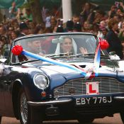 Mariage de William et Catherine: Just married, ils s'échappent en DB6 cabriolet!