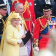 La Reine Elizabeth II lors du mariage du Prince William et de Kate Middleton, à Londres, le 29 avril 2011.