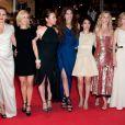 L'équipe du film  Polisse  (de Maïwenn) sur le tapis rouge du Festival de Cannes, vendredi 13 mai 2011.