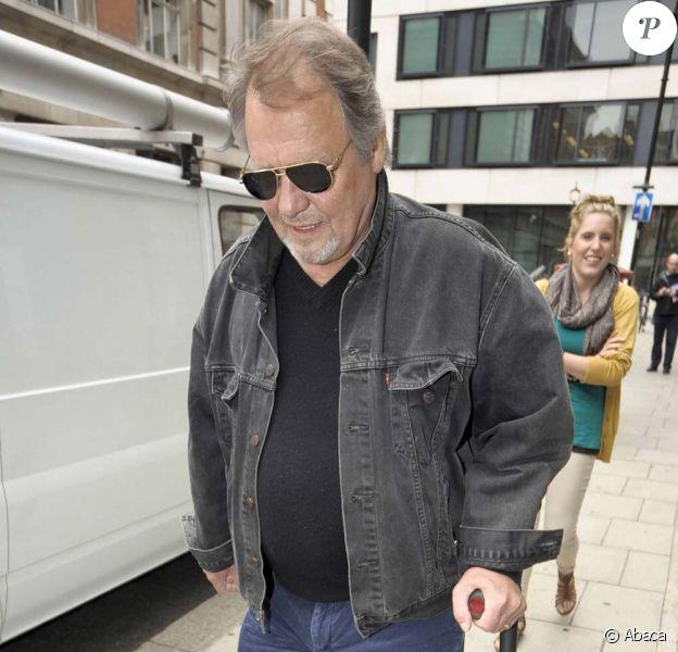 David Soul et sa fille China, à la sortie des studios de Radio 2, à Londres, le 16 mai 2011.