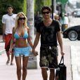 Shauna Sand et son ex-mari Laurent, à Miami en février 2011