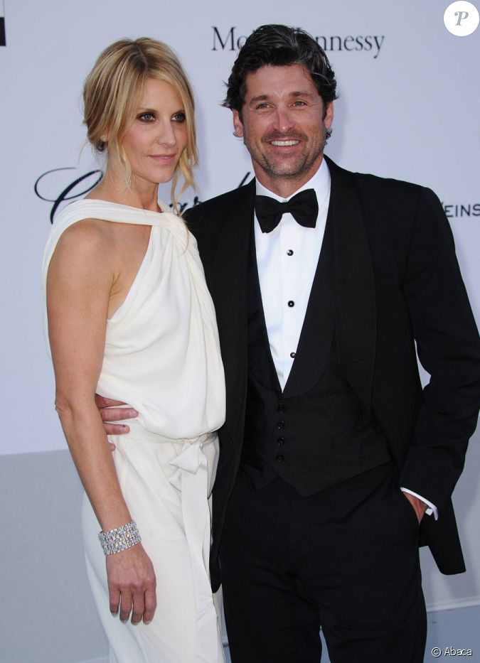 patrick dempsey so glamour avec sa femme jillian lors du gala de l 39 amfar au cap d 39 antibes le. Black Bedroom Furniture Sets. Home Design Ideas