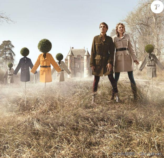 Julie Depardieu et Judith Godrèche posent pour la collection Le Chouchou, de la marque 3 SUISSES