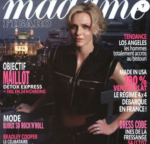 Couverture de Madame Figaro, en kiosques le 28 mai 2011. Charlene est à l'honneur, tout comme Inès de la Fressange (il y a deux couvertures).