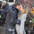 Sarah Jessica Parker et Greg Kinnear s'embrassent durant le tournage du film  I Don't Know How She Does It , février 2011