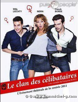 Willy Lietchy, Franck Borde et Indra dans Le clan des célibataires.