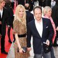 Le réalisateur Matthew Vaughn et son épouse Claudia Schiffer, à Londres le 13 avril 2008.