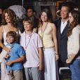 Arnold Schwarzenegger, Maria Shriver et leurs enfants à Los Angeles, le 19 mai 2005.