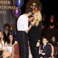 """Kirstie Alley et son partenaire de danse dans Dancing with the Stars Maksim Chmerkovskiy, aux """"Dance With Me"""" Studios de New York pour la soirée """"All the right Moves !"""" le 5 juin 2011."""