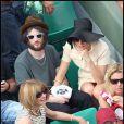 Sienna Miller et son nouveau boyfriend Tom lors de la finale du tournoi de Roland-Garros, le 5 juin 2011.