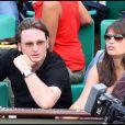 Benoît Magimel et sa compagne lors de la finale du tournoi de Roland-Garros, le 5 juin 2011.