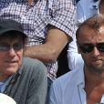 Alain SOuchon et son fils Pierre au tournoi de Roland-Garros, le dimanche 5 juin 2011.