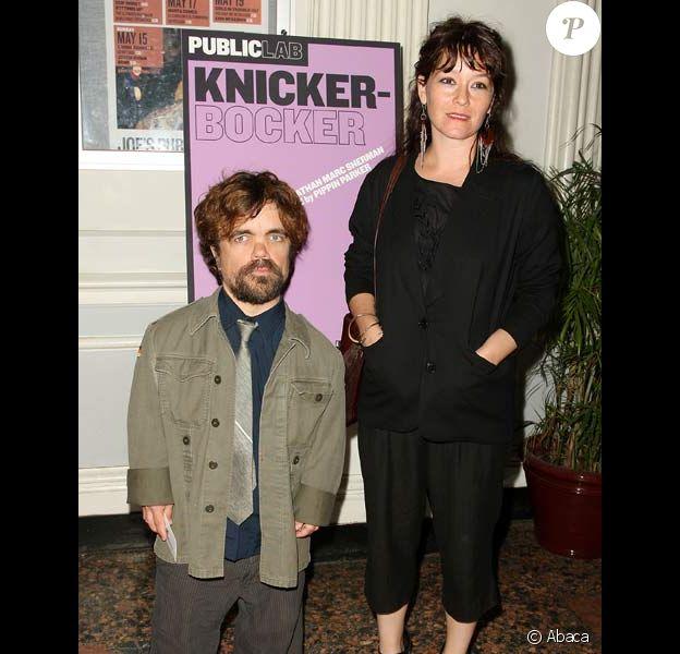 Peter Dinklage et sa femme Erica Schmidt en mai 2011 lors d'une avant-première à New York