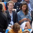 Pippa Middleton assiste à un match de tennis d'Andy Murray avec son ex-boyfriend George Percy... Qu'en pense son chéri Alex Loudon ? Londres le 9 juin 2011