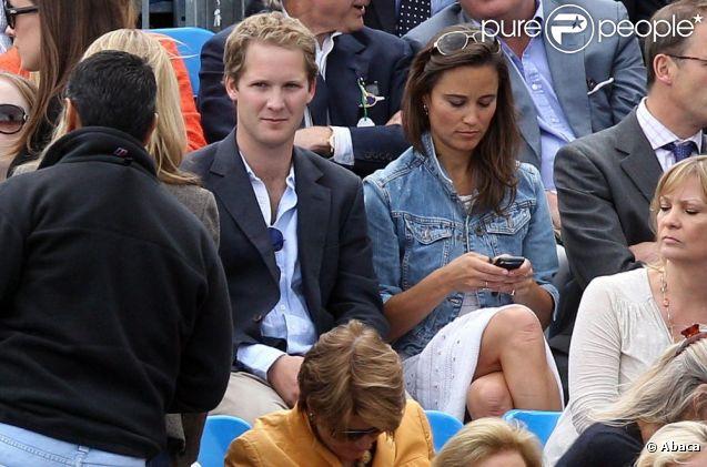 Pippa Middleton assiste à un match de tennis d'Andy Murray avec son ex-boyfriend George Percy... Qu'en pense son chéri Alex Loudon ? Londres le 9 juin 2011