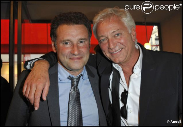Pierre Sled et Laurent Boyer à l'inauguration du restaurant Boco, rue Casanova à Paris, le jeudi 9 juin 2011.
