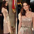 Leighton Meester dans Gossip Girl avec une robe Jenny Packham portée par Kate Middleton