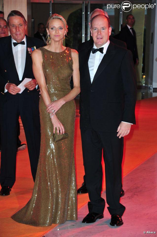 Le prince Albert et Charlene Wittstock le 29 mai 2011.
