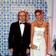 Umberto Tozzi et son épouse en 2010, au fameux Bal de la Rose.