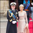La princesse Maxima des Pays-Bas et son mari le prince Willem-Alexander le 29 avril 2011 au mariage de Kate Middleton et du prince Wiliam