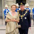 Le roi Albert de Belgique et la reine Paola à Stockholm en juin 2010