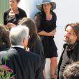 Frédéric Beigbeder, réalisateur, sur le tournage de son premier film  L'amour dure 3 ans à Guethary, Pays Basque près de Biarritz, aux  environs du 1er juin 2011