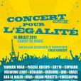 Concert pour l'égalité, le 14 juillet à Paris 2011.