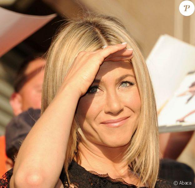 Jennifer Aniston à New York, en pleine promotion de The horrible boss. Le 27 juin 2011