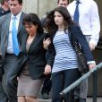 Anne Sinclair et Camille Strauss-Kahn sortent du tribunal le 19 mai 2011 à New York
