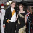 Georg Friedrich de Prusse et de la princesse Sophie d'Isemburg sur le tapis rouge du dîner en l'honneur des jeunes mariés Albert et Charlène sur la terrasse éphémère du Casino de Monte-Carlo.   Après le festival des têtes couronnées sur le tapis rouge du Palais princier, le prince Albert et la princesse Charlene étaient gratifiés par leurs convives royaux d'un véritable feu d'artifice d'élégance pour le dîner donné sur les terrasses du Casino de Monte-Carlo, le 2 juillet 2011 au soir.