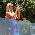 Paris Hilton se rend chez des amies à Los Angeles, vendredi 1er juillet.