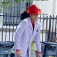 Sacha Baron Cohen le 30 juin 2011 à NY pendant le tournage de The Dictator