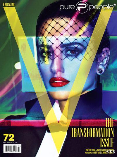 Penélope Cruz en couverture de V Magazine pour le mois d'août