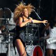 Beyoncé se produit sur la scène du T In The Park Festival, à Kinross en Ecosse, samedi 9 juillet 2011.