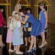 La princesse Caroline de Hanovre retrouvait dimanche 10 juillet 2011 son amie la princesse Camilla de Bourbon-Siciles et ses deux fillettes au Forum Grimaldi, à Monaco, pour découvrir l'exposition  Magnificence et grandeur des maisons royales  recensant plus de 600 objets retraçant trois siècles d'histoire des royautés européennes.
