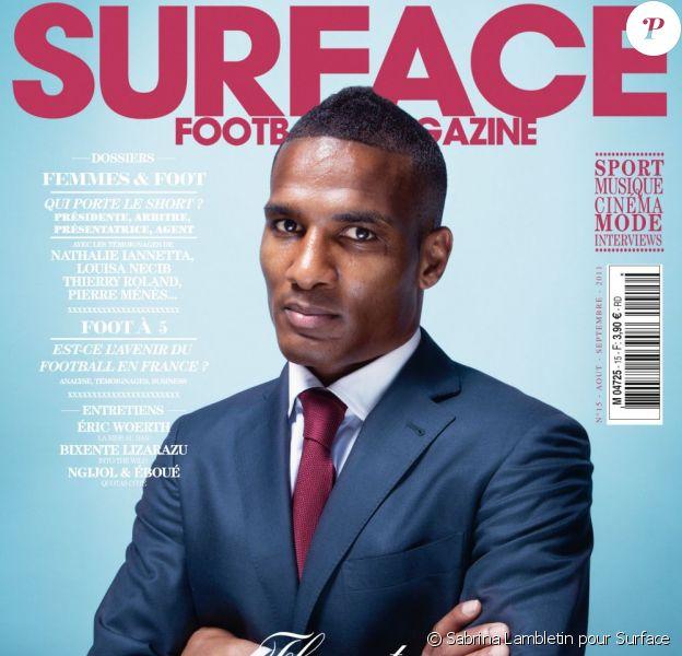 Florent Malouda fait la couverture du magazine Surface du mois de juillet