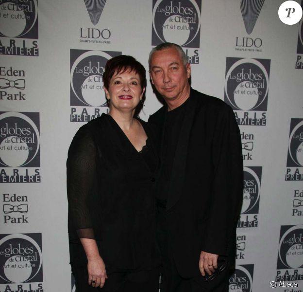 Fabienne Thibeault et son mari Jean-Pierre Debarbat, Paris, le 11 février 2008.
