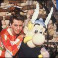 Eric Galliano avec Astérix, dans les années 1980.