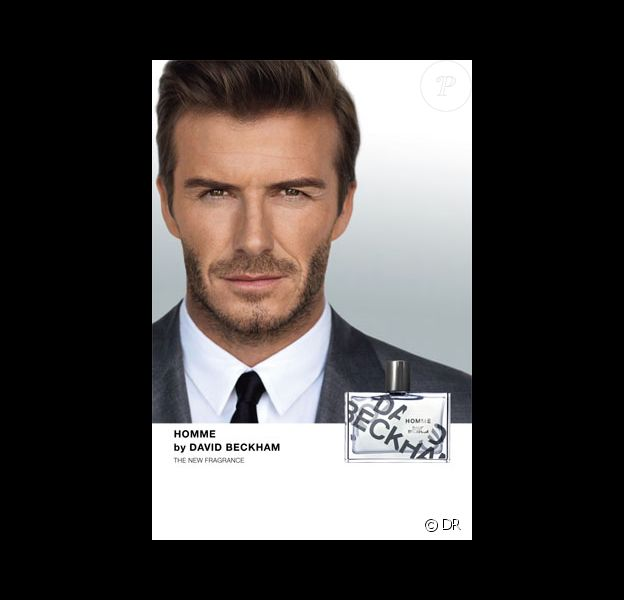 Le footballeur David Beckham lance son parfum, Homme by David Beckham.