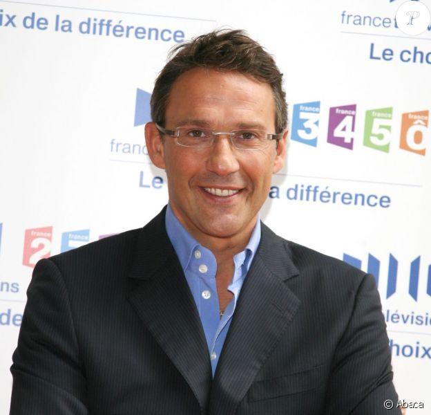 Julien Courbet à la conférence de presse de France Télévisions en août 2008
