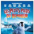 L'affiche québécoise de Happy Feet, traduit par Les Petits Pieds du Bonheur