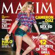 C'est en sexy Bad Teacher que Cameron Diaz apparaît sur la couv' du magazine  Maxim  du mois de juin dernier.