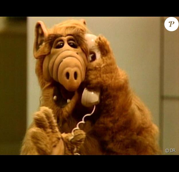 Alf, adorable extraterrestre, star de la série éponyme.