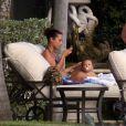 Alicia Keys et son fils Egypt en vacances à Miami le 22 juillet 2011