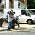 Le corps d'Amy Wianhouse quitte le St. Pancras Mortuary après l'identification par les parents de la star, le 25 juillet 2011.